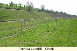 Petrolia Landfill - Creek