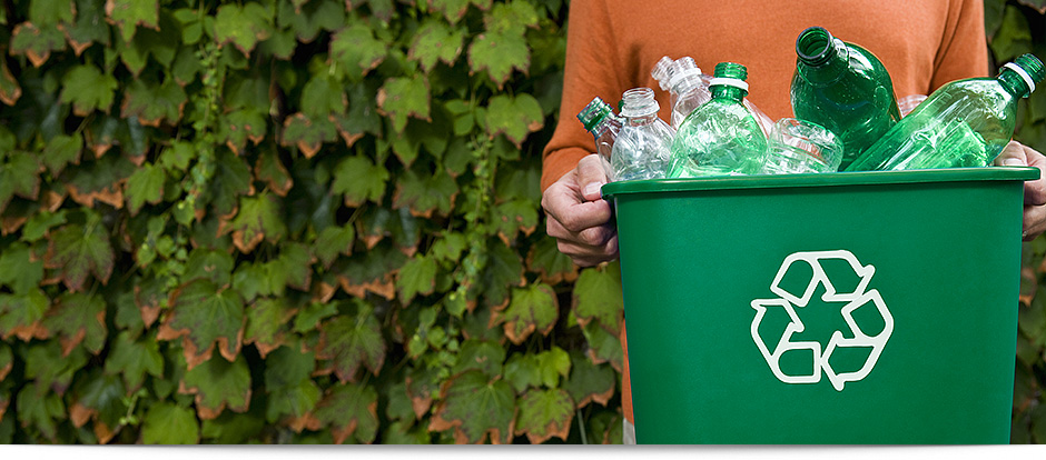 image for recycle bin and plastic bottles